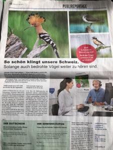 Werbung in der Unterland Zeitung (Zürich)